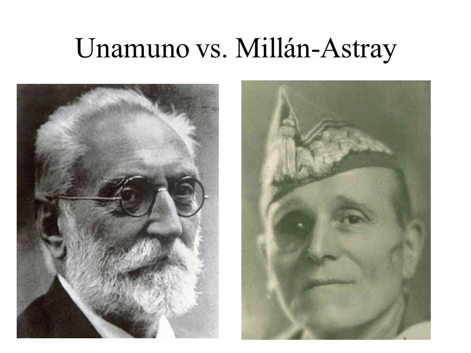 Unamuno vs. Millán-Astray