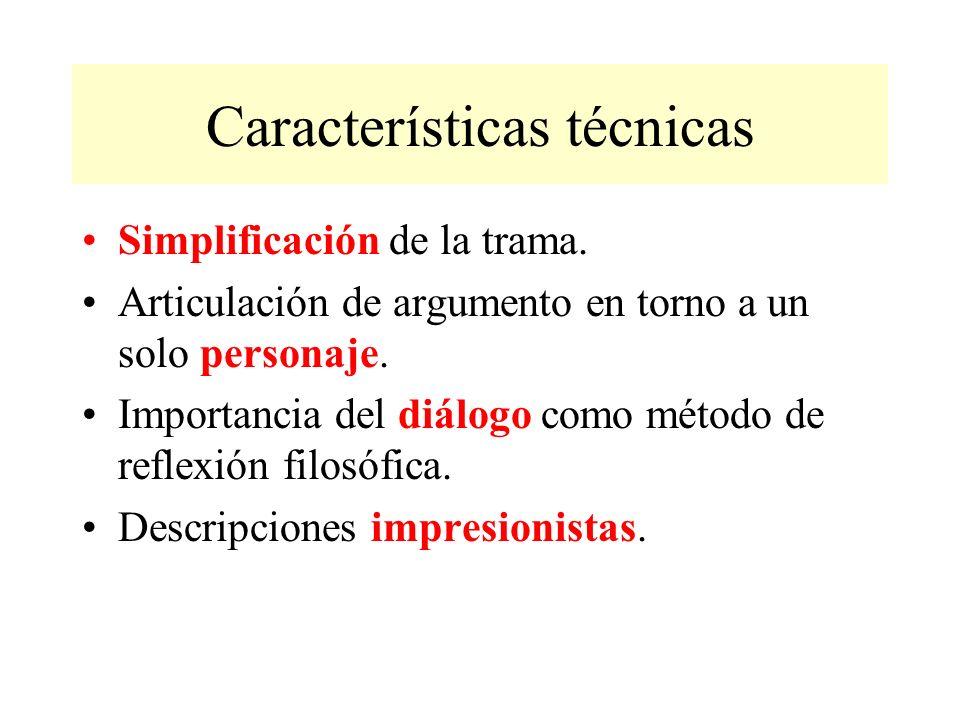 Características técnicas Simplificación de la trama.
