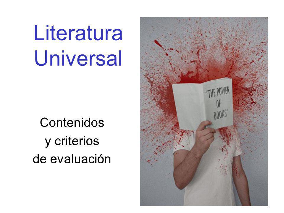 Literatura Universal Contenidos y criterios de evaluación