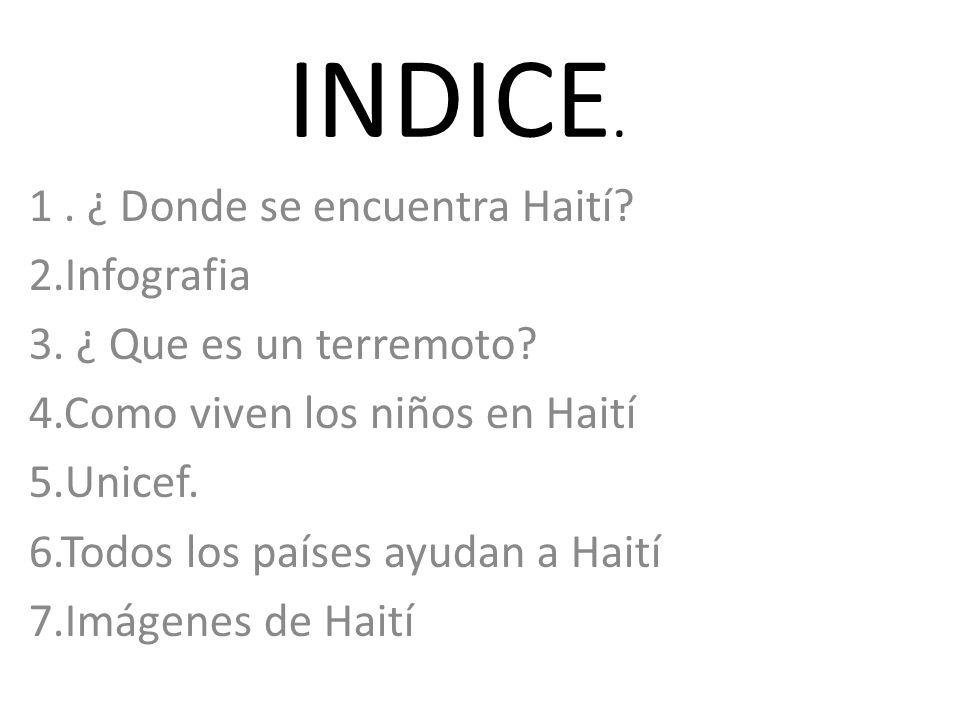 INDICE.1. ¿ Donde se encuentra Haití. 2.Infografia 3.