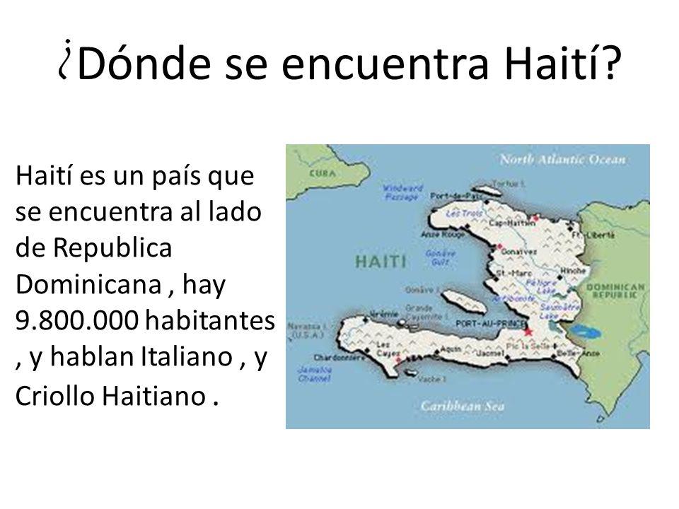 ¿ Dónde se encuentra Haití.