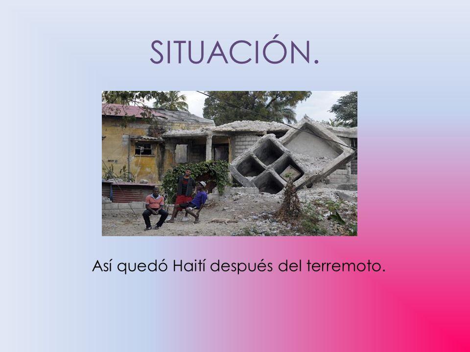 SITUACIÓN. Así quedó Haití después del terremoto.