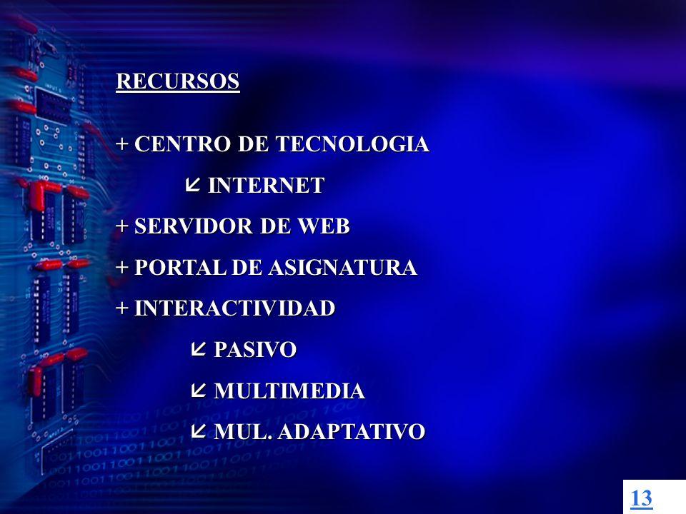 12 ESTRUCTURA DE LOS MATERIALES ÁMBITO DE LA APLICACIÓN LOCAL: CD y INTRANET GLOBAL:INTERNET ESTRUCTRURA LINEAL NO LINEAL: HIPERTEXTO, HIPERMEDIA, MULTIMEDIA (enlaces) (ramificación) (variedad de recursos)