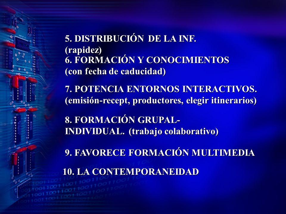 VENTAJAS 1.AMPLITUD DE LA FORMACIÓN. LA INF. SE BUSCA, SER SELECTIVO Y EVALUAR.