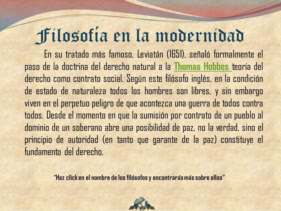 En su tratado más famoso, Leviatán (1651), señaló formalmente el paso de la doctrina del derecho natural a la Thomas Hobbes teoría del derecho como co