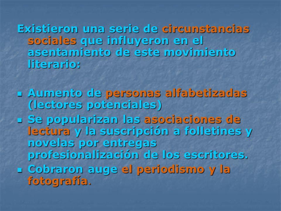 Características del Realismo 1.Interés por la realidad (Sentimientos) 2.