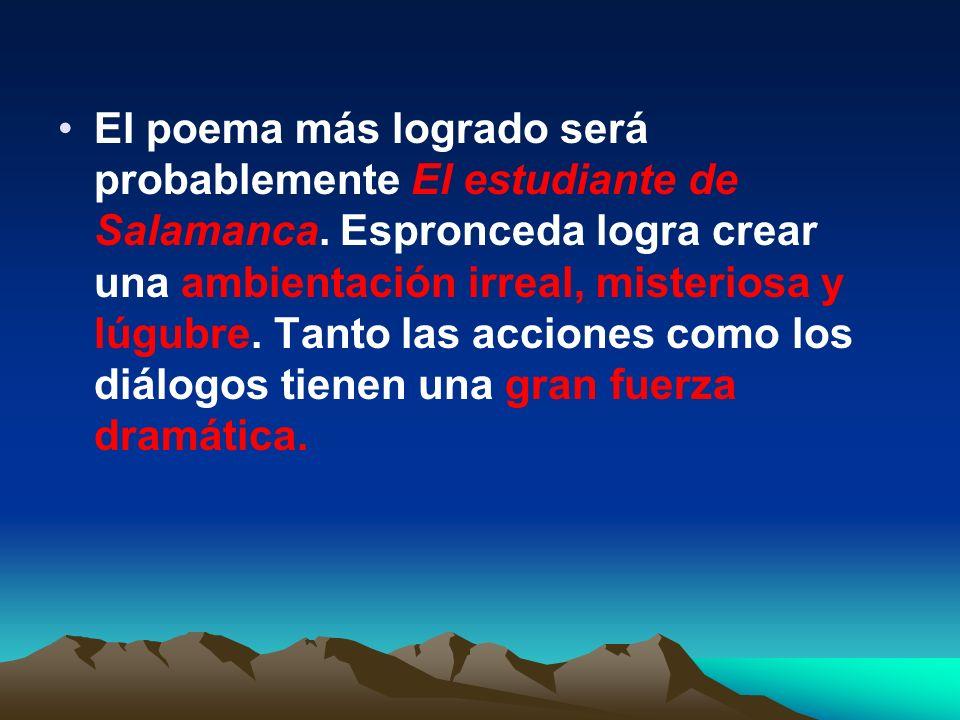José de Espronceda. José de Espronceda. - Se trata de uno de los poetas más importantes del Romanticismo. - Destaca sobre todo por su producción poéti