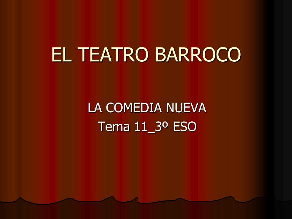 EL TEATRO BARROCO LA COMEDIA NUEVA Tema 11_3º ESO