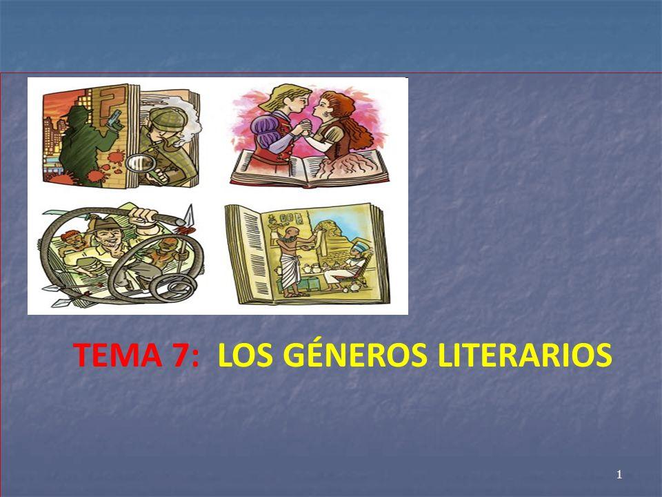 TEMA 7: LOS GÉNEROS LITERARIOS 1