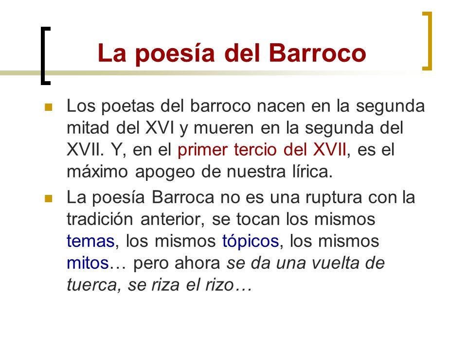 Los géneros del Barroco Poesía: máximo esplendor. Los autores más destacados son Lope de Vega, Luis de Góngora y Francisco de Quevedo. Narrativa: Dest