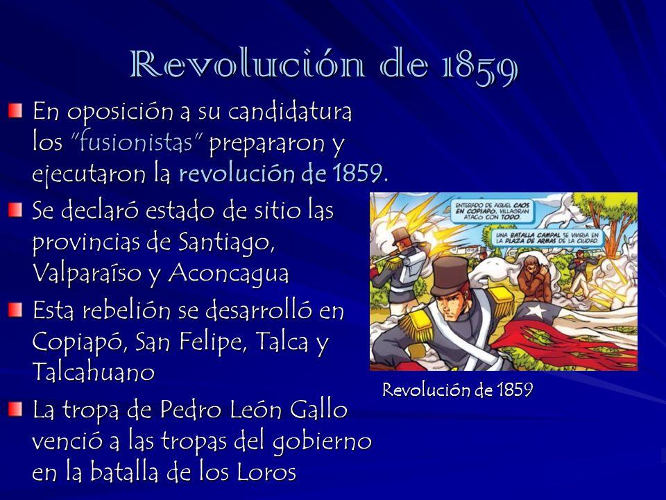 Revolución de 1859 En oposición a su candidatura los