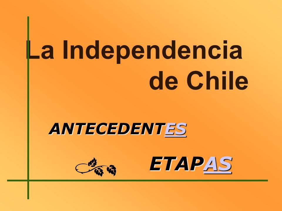 La Independencia de Chile ANTECEDENTES ES ETAPAS AS