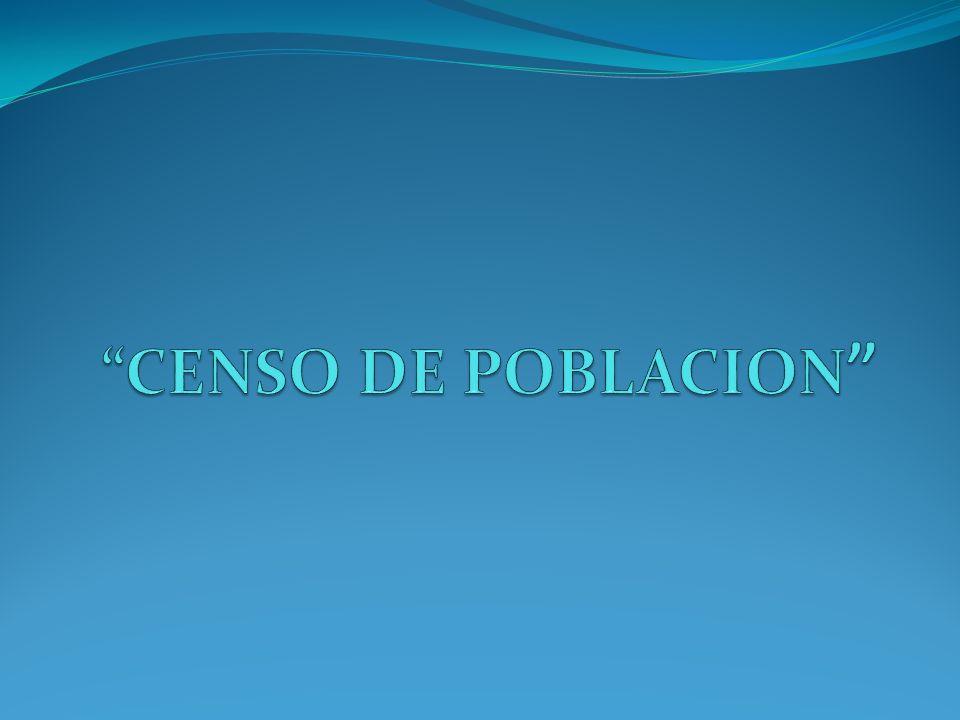 ¿Qué es el Censo Poblacional.