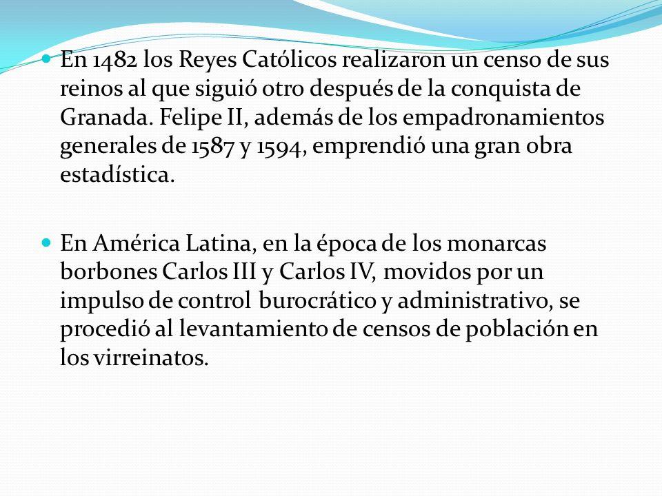 En 1482 los Reyes Católicos realizaron un censo de sus reinos al que siguió otro después de la conquista de Granada. Felipe II, además de los empadron