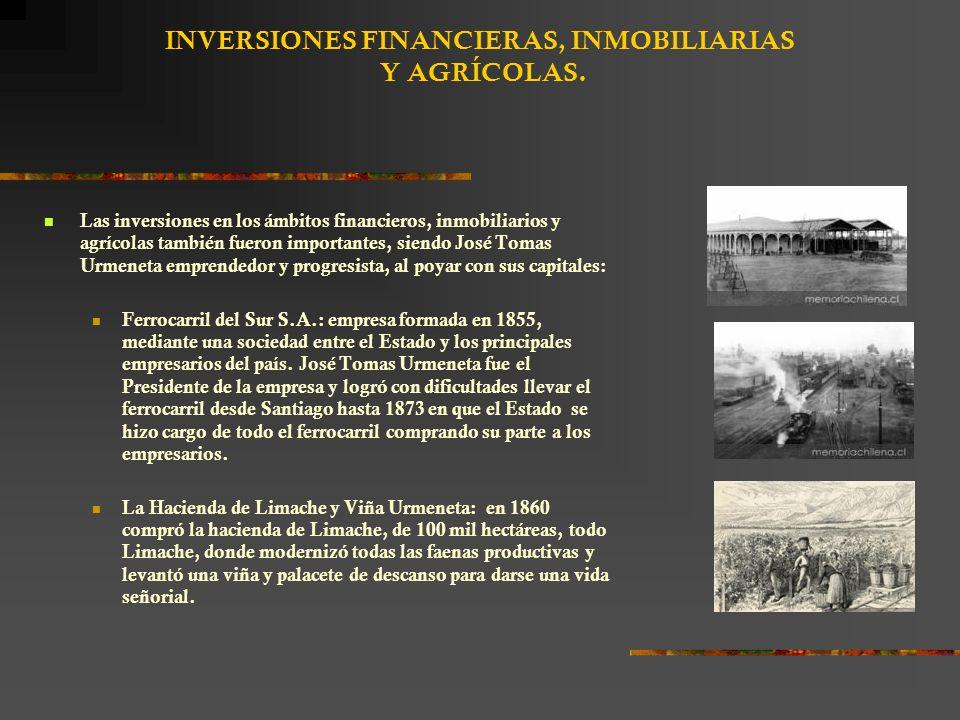 INVERSIONES FINANCIERAS, INMOBILIARIAS Y AGRÍCOLAS.
