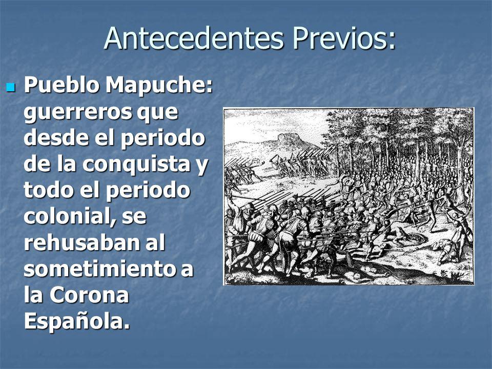 Antecedentes previos Luego de la independencia de Chile, se ordenó la celebración de un parlamento general.
