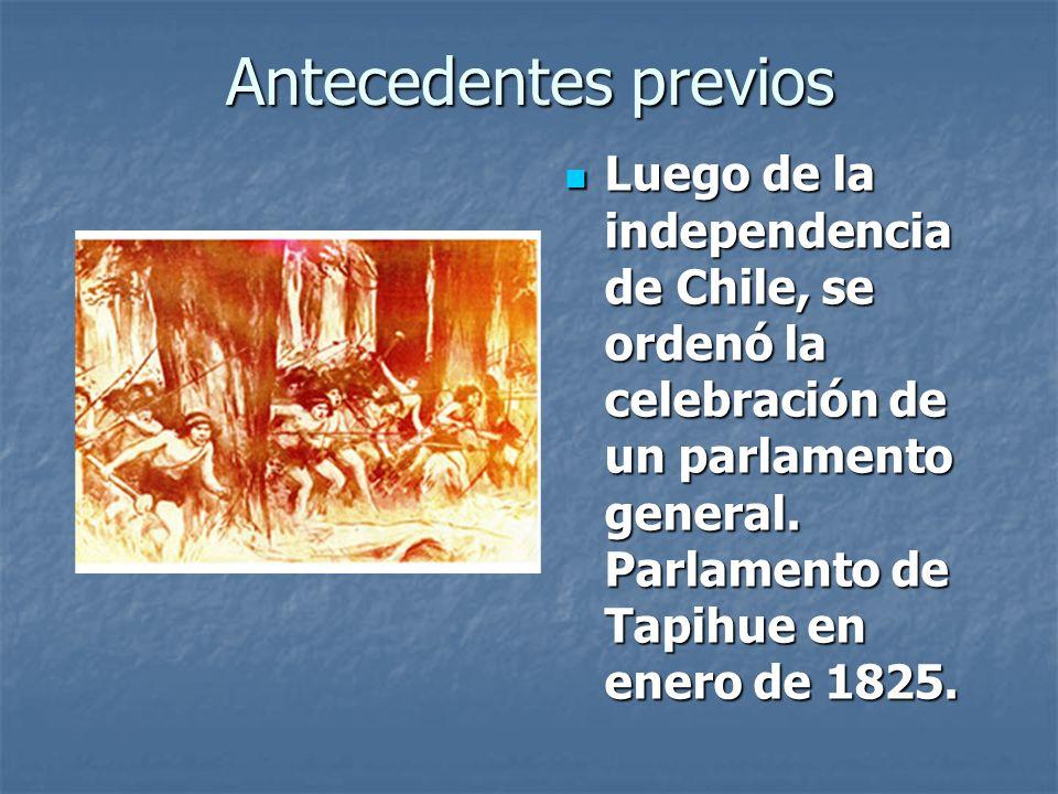Antecedentes previos Pero en 1851,luego de las elecciones, el general José María de la Cruz, reclutó a varios loncos mapuches y sus clanes para alzarse en contra del gobierno de Manuel Montt (1851- 1861).