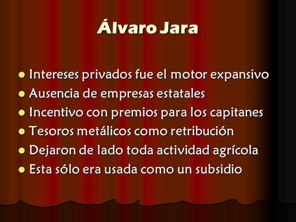 Álvaro Jara Intereses privados fue el motor expansivo Intereses privados fue el motor expansivo Ausencia de empresas estatales Ausencia de empresas es