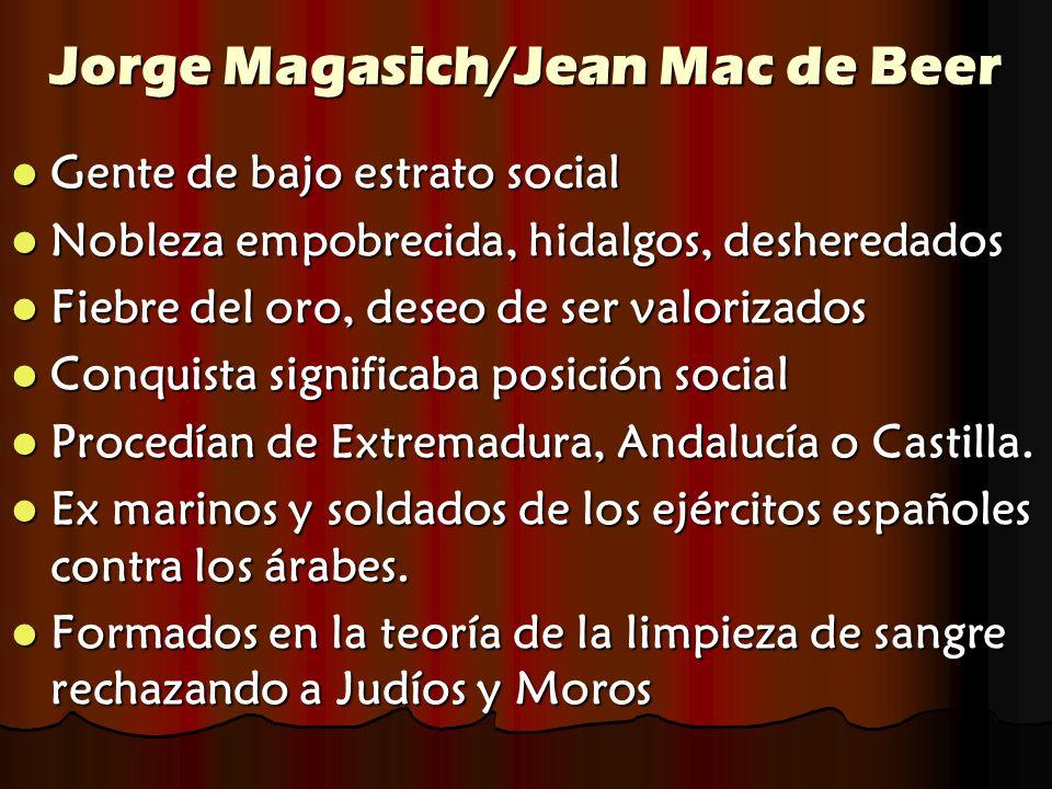 Jorge Magasich/Jean Mac de Beer Gente de bajo estrato social Gente de bajo estrato social Nobleza empobrecida, hidalgos, desheredados Nobleza empobrec
