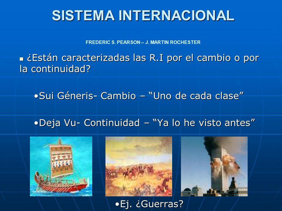 SISTEMA INTERNACIONAL Definición: Definición: *Patrón de relaciones políticas, económicas, sociales, geográficas y tecnológicas que configuran los asuntos mundiales.