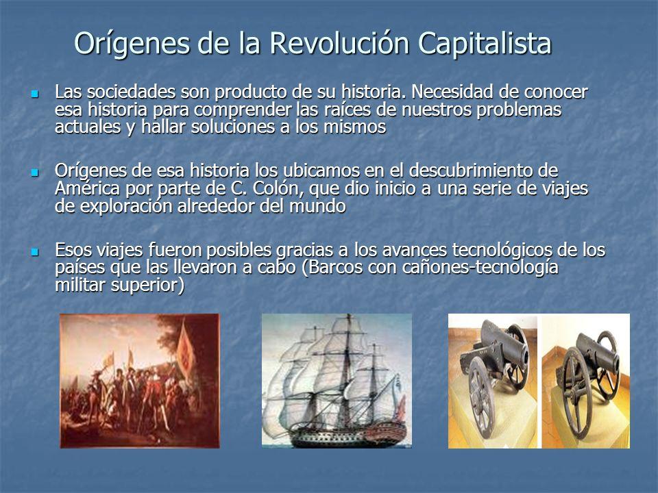 Orígenes de la Revolución Capitalista Las sociedades son producto de su historia. Necesidad de conocer esa historia para comprender las raíces de nues