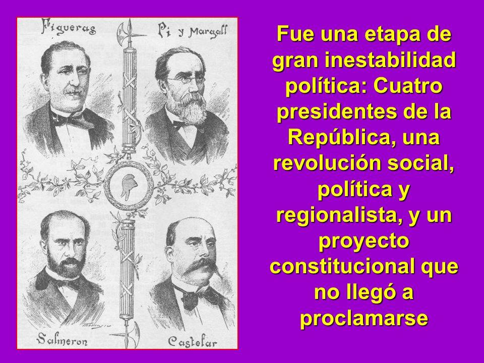 Fue una etapa de gran inestabilidad política: Cuatro presidentes de la República, una revolución social, política y regionalista, y un proyecto consti