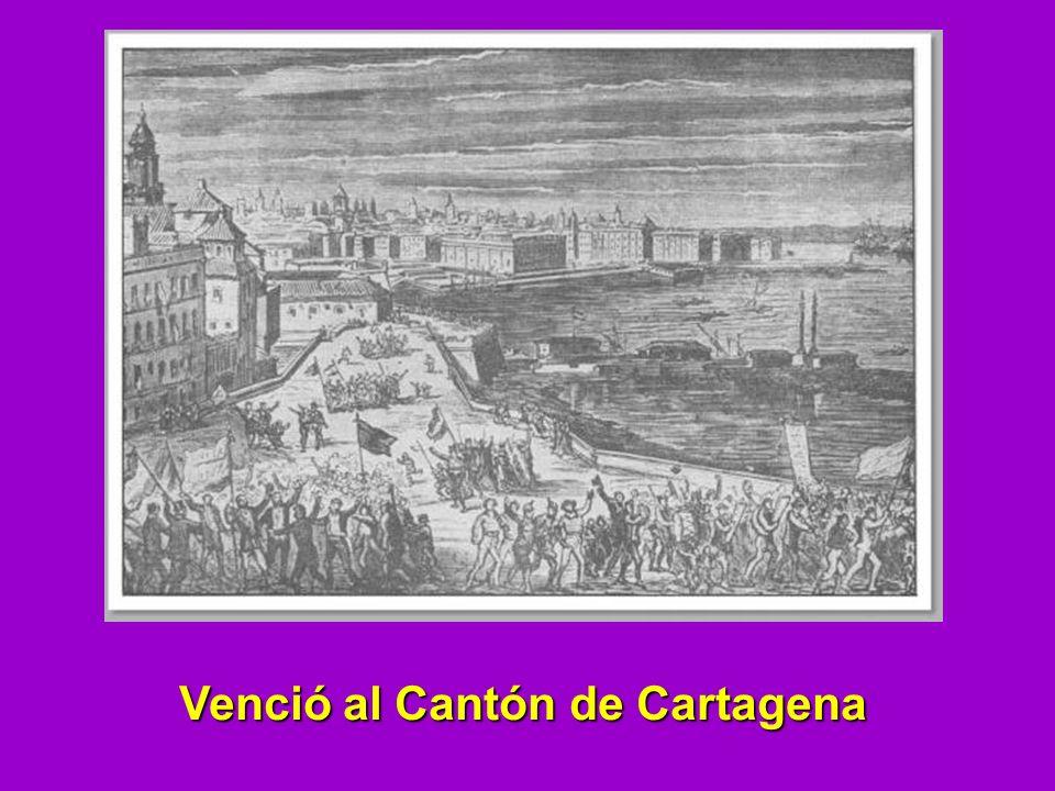 Venció al Cantón de Cartagena