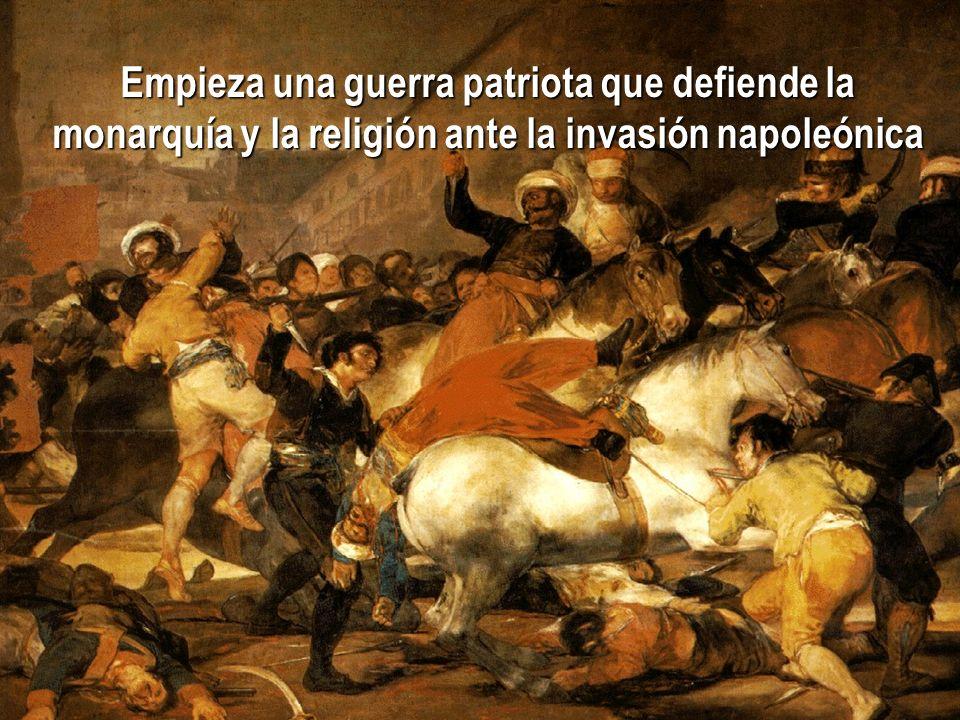El 2 de mayo de 1808, cuando se marchan hacia Bayona los últimos miembros de la familia real, se inicia en Madrid la sublevación popular contra los fr
