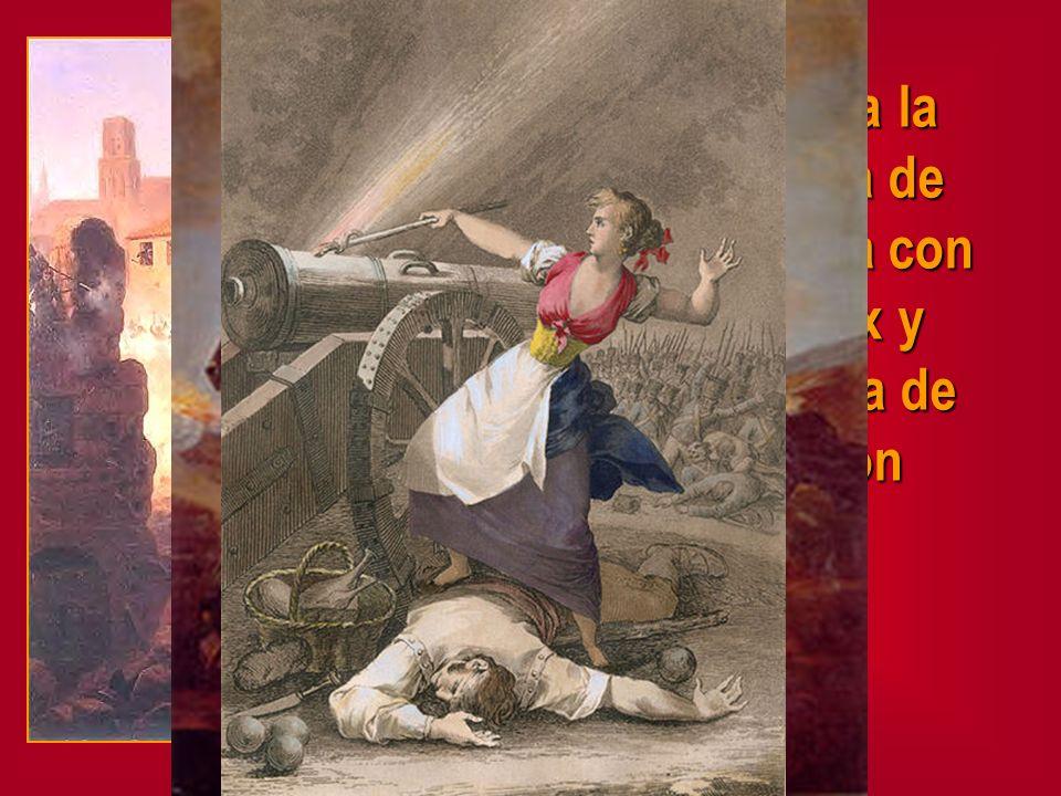 Destaca la defensa de Zaragoza con Palafox y Agustina de Aragón