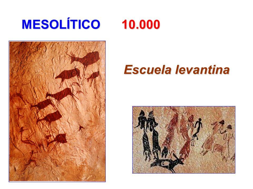 MESOLÍTICO 10.000 MESOLÍTICO 10.000 Escuela levantina