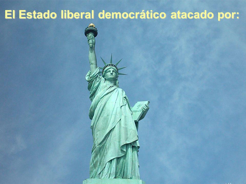 El Estado liberal democrático atacado por: