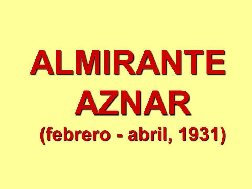 ALMIRANTE AZNAR (febrero - abril, 1931)