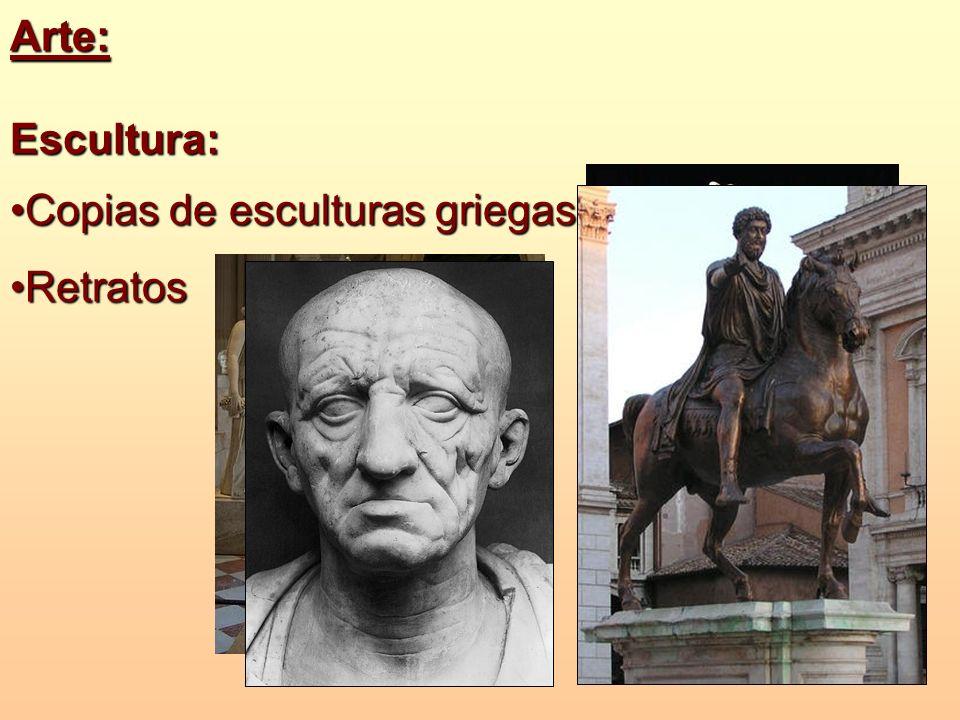 Arte:Escultura: Copias de esculturas griegasCopias de esculturas griegas RetratosRetratos