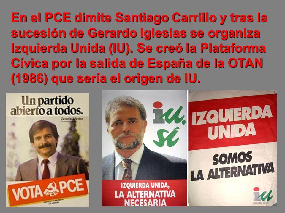 Los votos de la UCD se fueron a AP (Alianza Popular) y al PSOE.