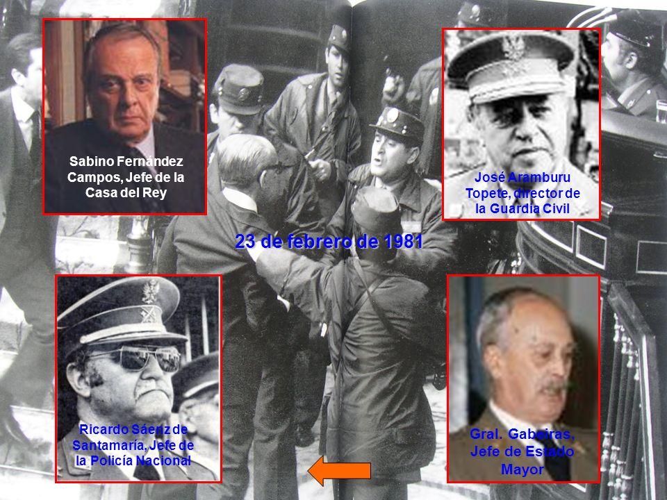 24 de febrero de 1981 La rápida intervención del Rey hizo fracasar la conspiración.