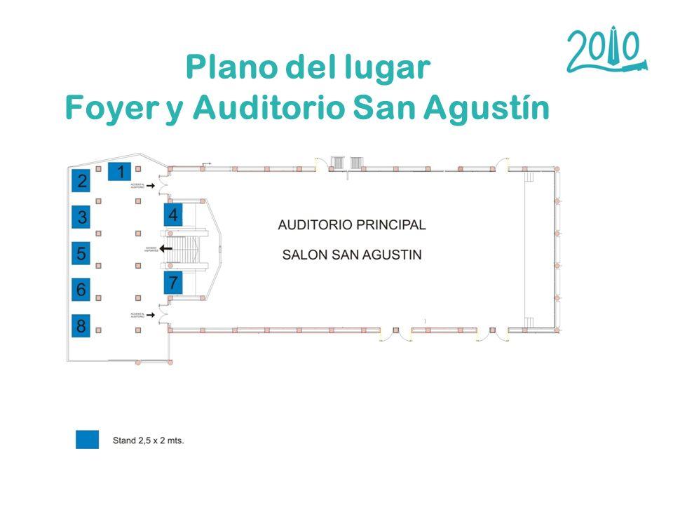 Plano del lugar Foyer y Auditorio San Agustín