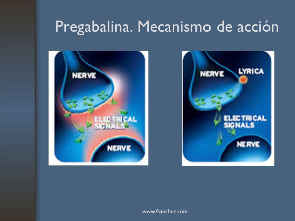 Pregabalina. Mecanismo de acción www.fsanchez.com