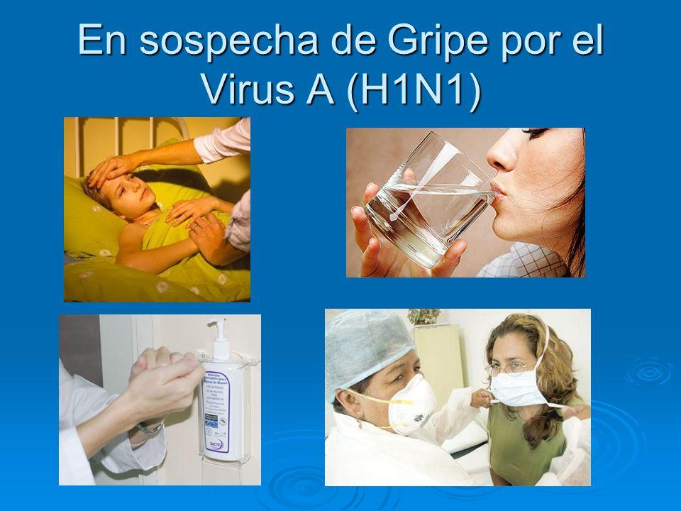 En sospecha de Gripe por el Virus A (H1N1)