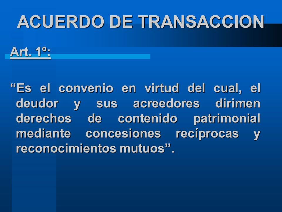 ACUERDO DE TRANSACCION Art.