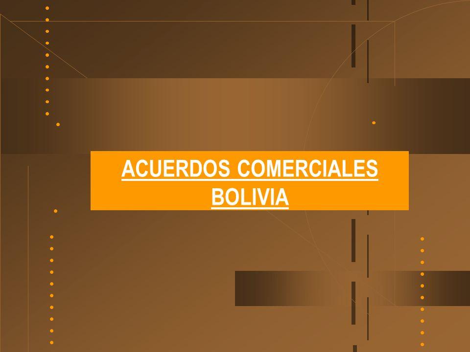 ACUERDOS COMERCIALES BOLIVIA