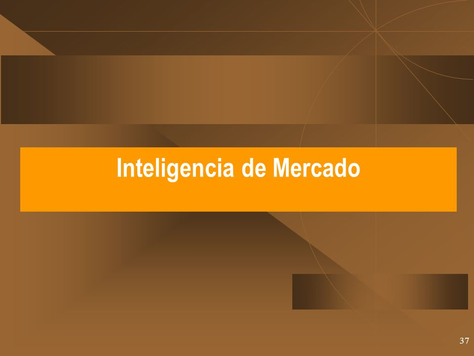 37 Inteligencia de Mercado