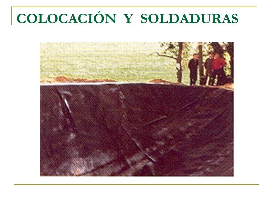 COLOCACIÓN Y SOLDADURAS