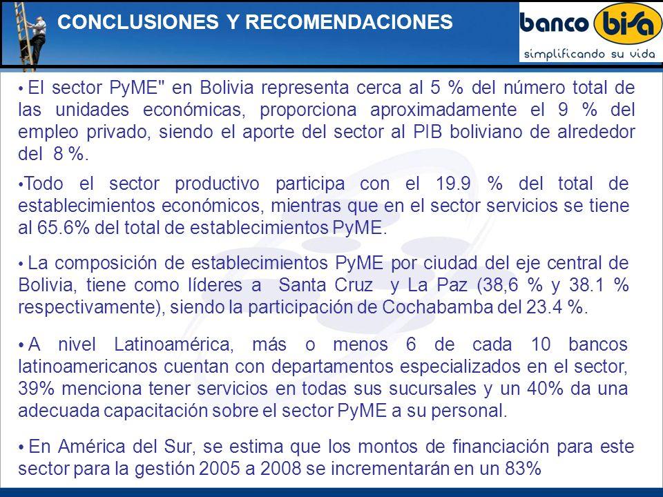 CONCLUSIONES Y RECOMENDACIONES El sector PyME