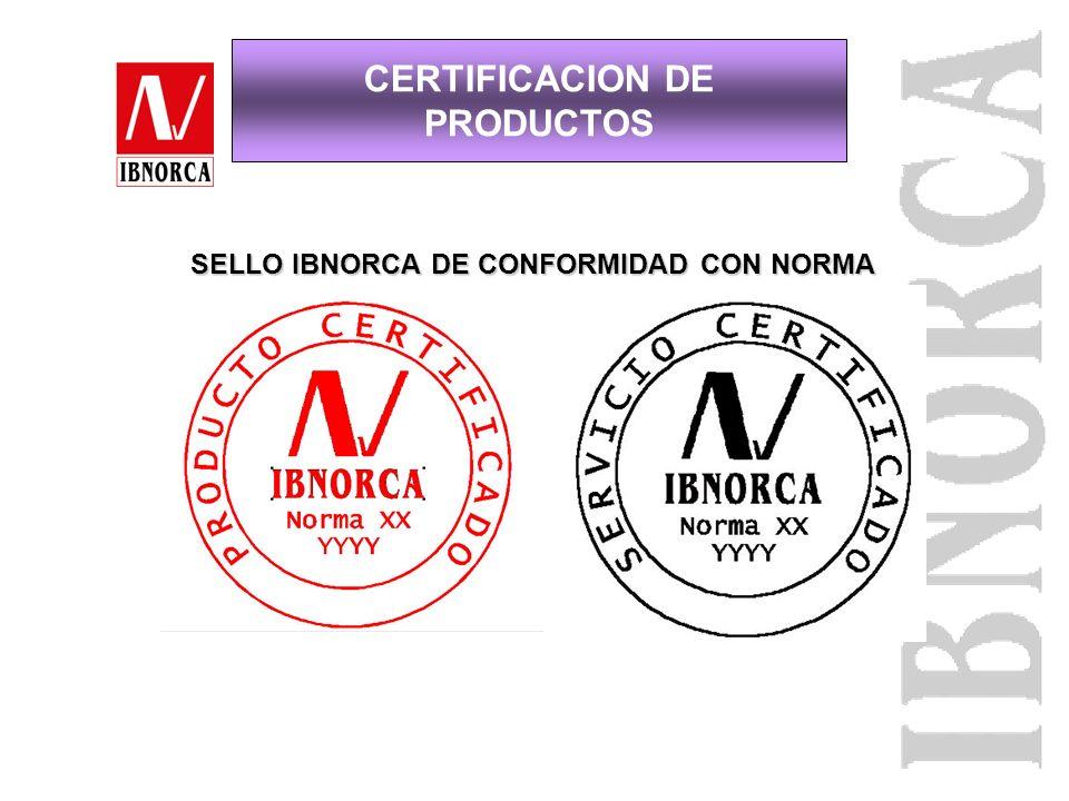 Normalización (Norma) Organismo de Inspección (3ra. Parte: IBNORCA: OI, Lotes y Tipo) Laboratorio de Ensayo Certificación (3ra. Parte: IBNORCA: Produc