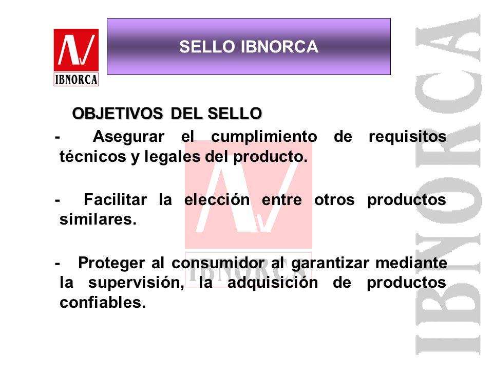 SELLO IBNORCA DE CONFORMIDAD CON NORMA CERTIFICACION DE PRODUCTOS