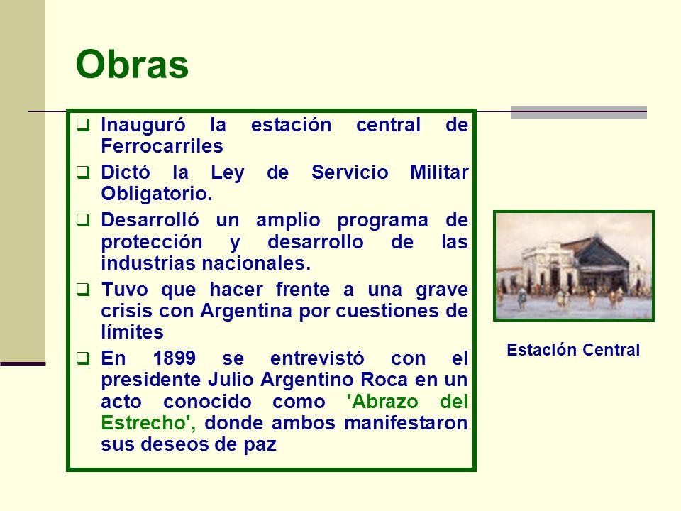 Gobierno de Germán Riesco (1901-1906) Abogado y político chileno, fue vocal del Tribunal de Apelaciones Senador en 1900 Fue Presidente con el apoyo de los liberales, demócratas, radicales y balmacedistas.