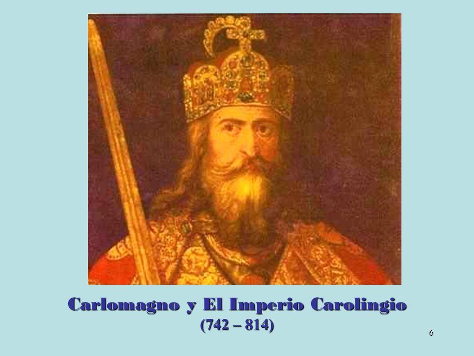 7 Reino Franco Su fundador es Clodoveo (481 – 511), de la dinastía Merovingia.