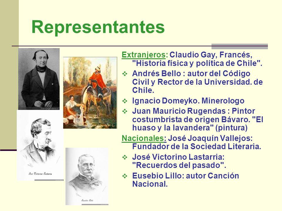 Representantes Extranjeros: Claudio Gay, Francés,