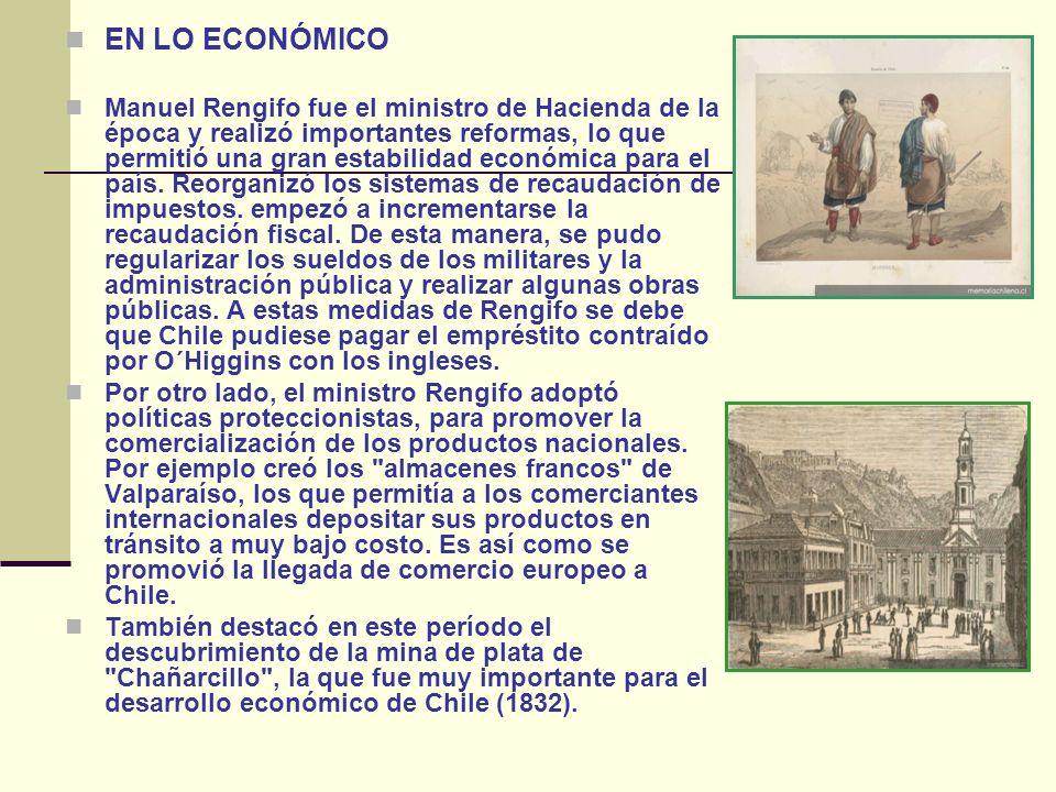 EN LO ECONÓMICO Manuel Rengifo fue el ministro de Hacienda de la época y realizó importantes reformas, lo que permitió una gran estabilidad económica