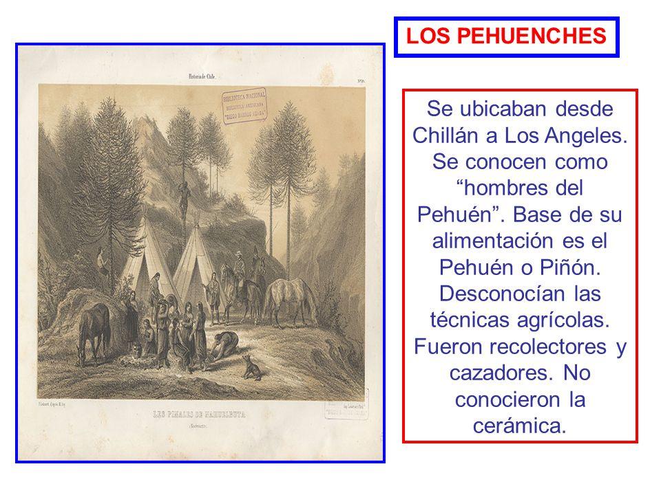 Se ubicaban entre los Andes y Rancagua. Vivían en toldos de cuero y consumían la carne en distintas especies de animales como guanaco y caballos. LOS